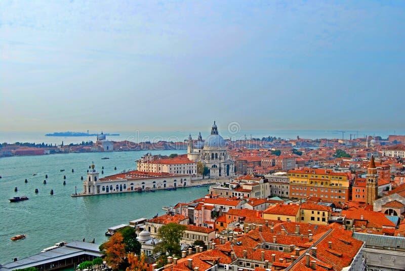 Vista di Venezia dalla torre del campanile immagine stock libera da diritti