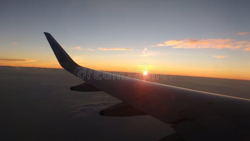 Vista di volo di albe fotografia stock libera da diritti