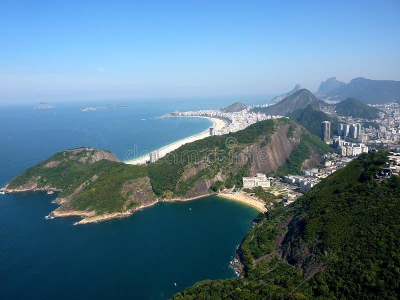 Vista di volo sopra Rio de Janeiro immagini stock