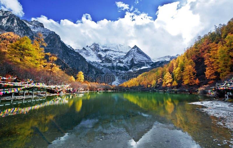 Vista di Yading, il Yunnan immagine stock