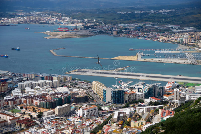 Vista di Yhe di Gibilterra fotografie stock libere da diritti
