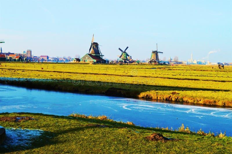 Vista di Zaanse Schans, Olanda immagini stock