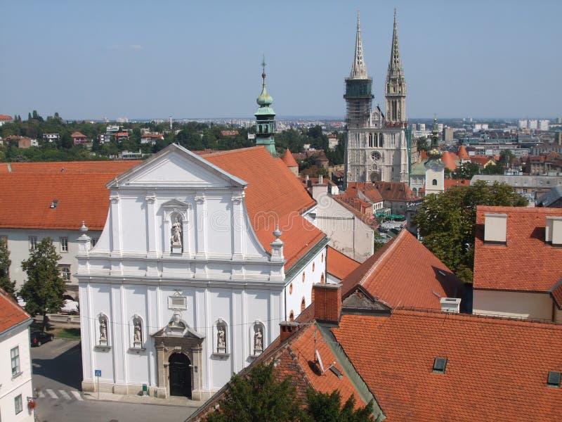 Vista di Zagabria immagine stock