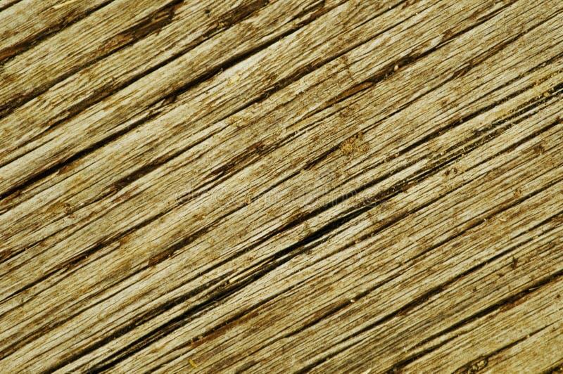 Vista diagonal de la madera vieja foto de archivo