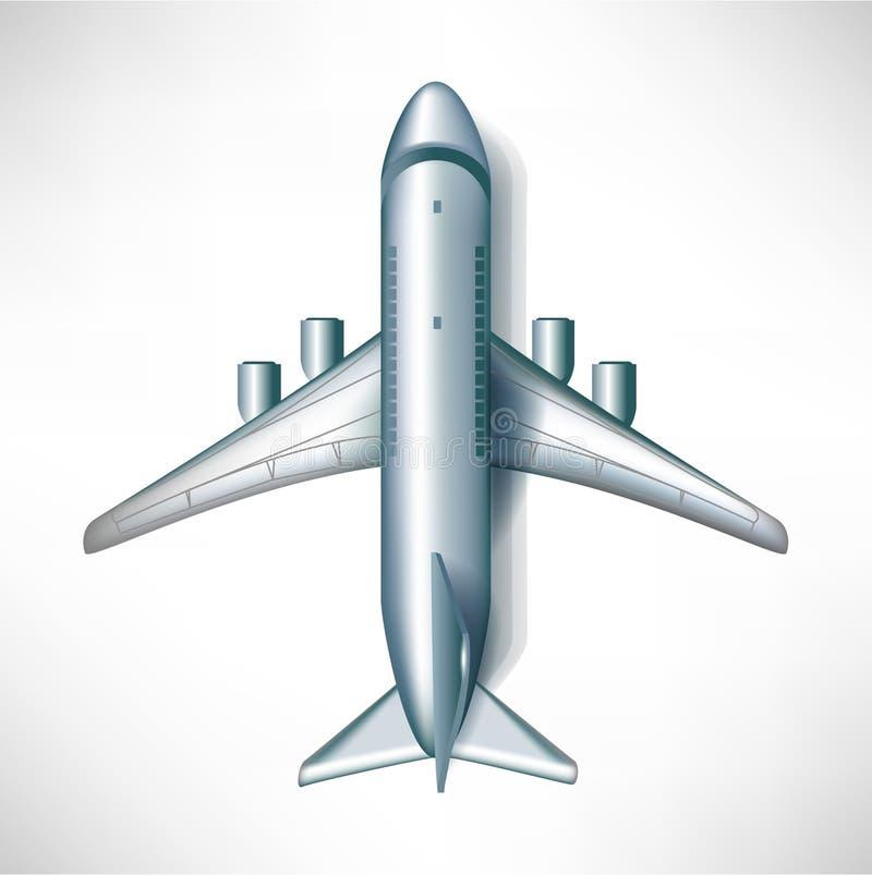 Vista in discesa dell'aereo di aria illustrazione vettoriale