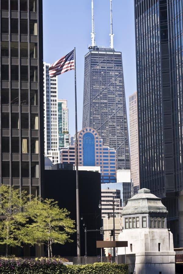 Vista distante della torretta del Hancock fotografia stock libera da diritti