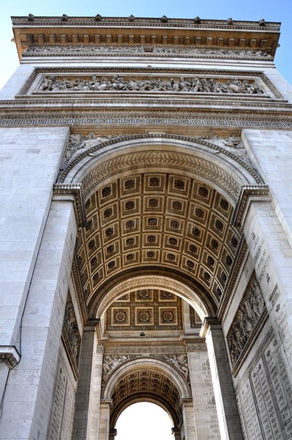 Vista do Arco do Triunfo foto de stock