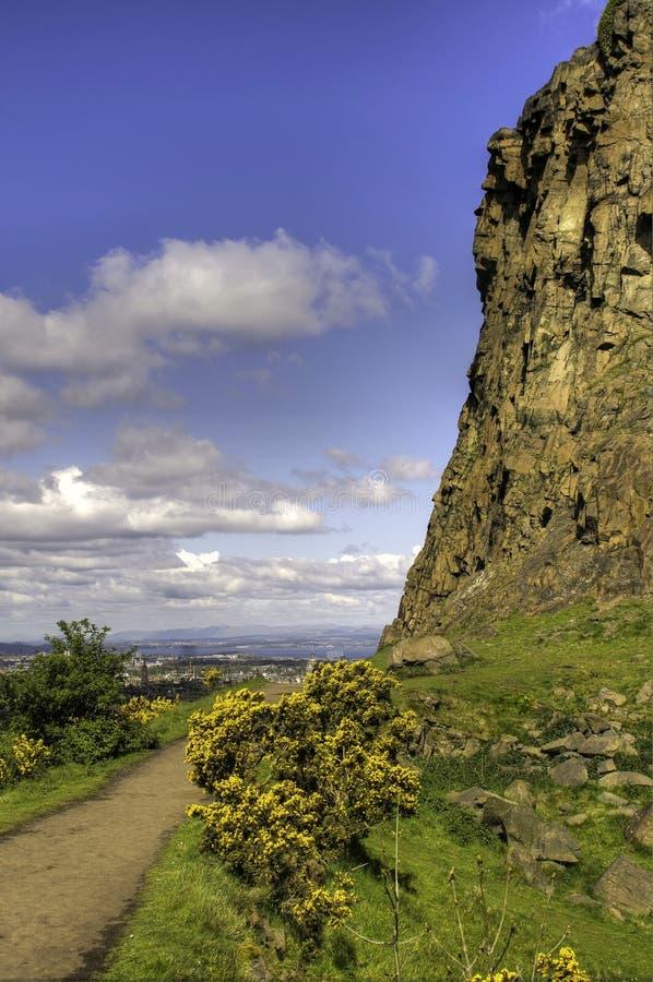 Vista do assento Edimburgo de Arthur imagens de stock royalty free