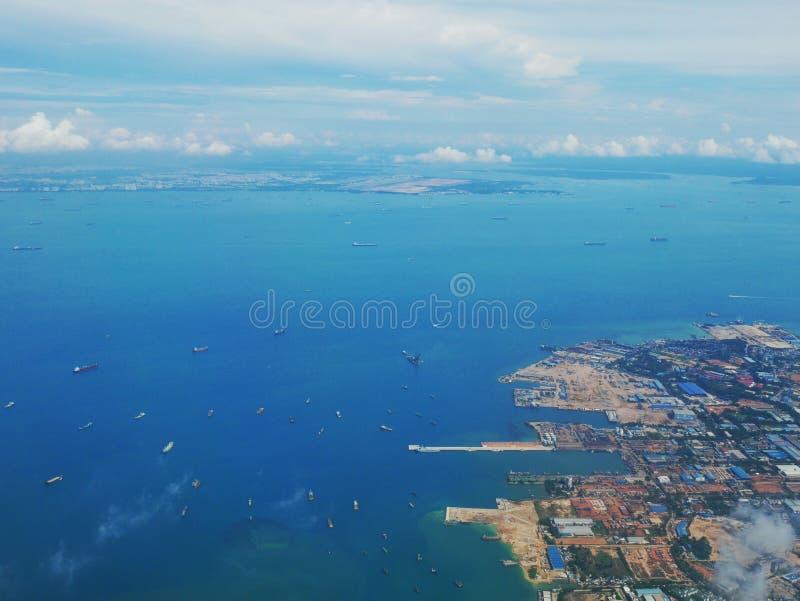 Vista do avião fotografia de stock royalty free