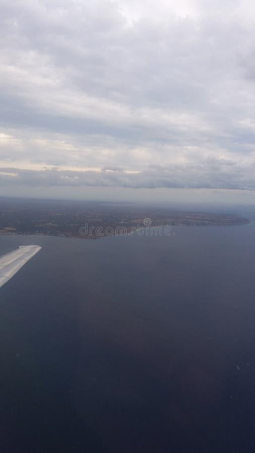 Vista do avião foto de stock royalty free