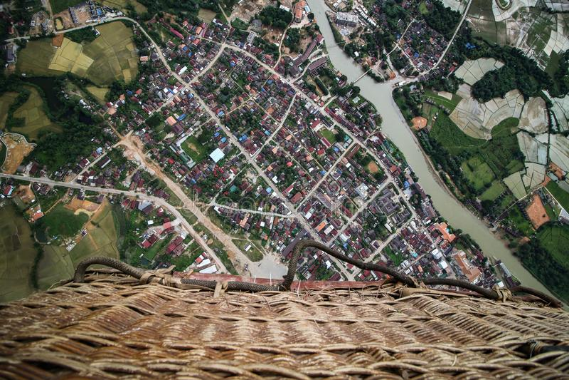 Vista do balão de ar imagens de stock