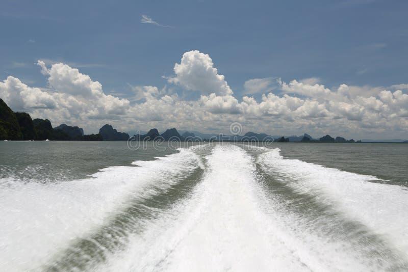Vista do barco tailândia imagens de stock