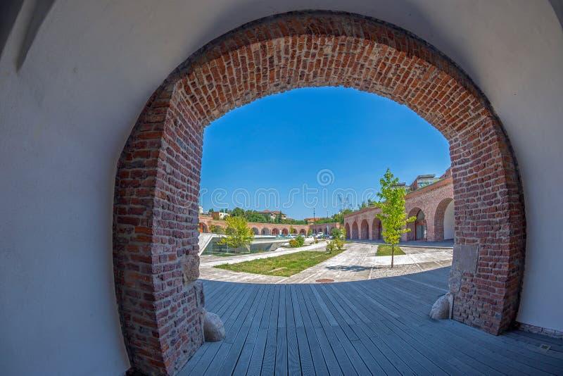 Vista do bastião Maria Theresia de Timisoara, Romênia foto de stock royalty free