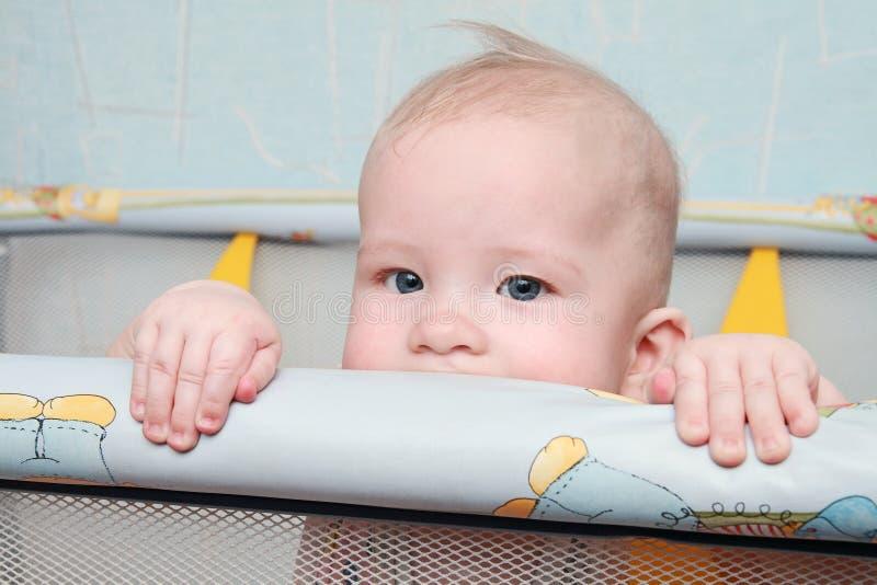 Vista do bebê imagem de stock