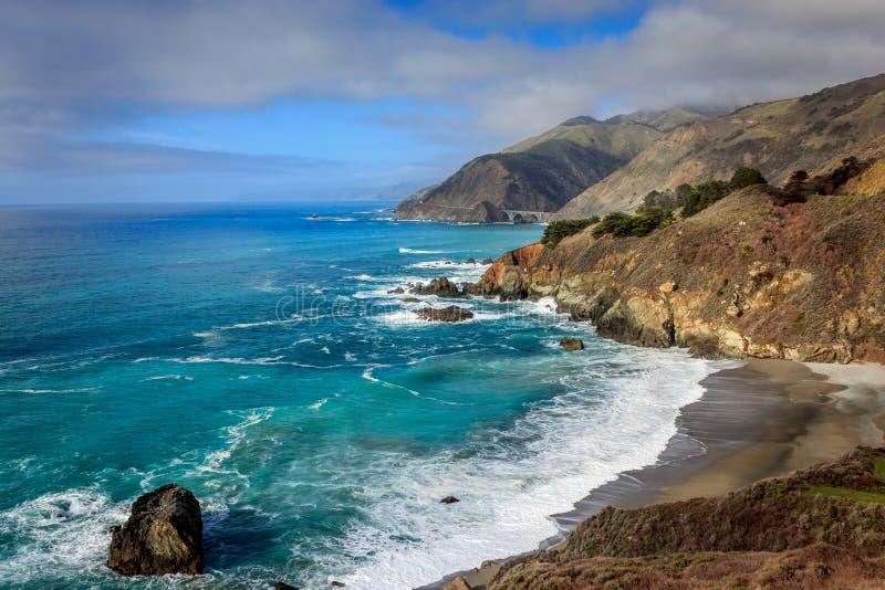Vista do Big Sur foto de stock
