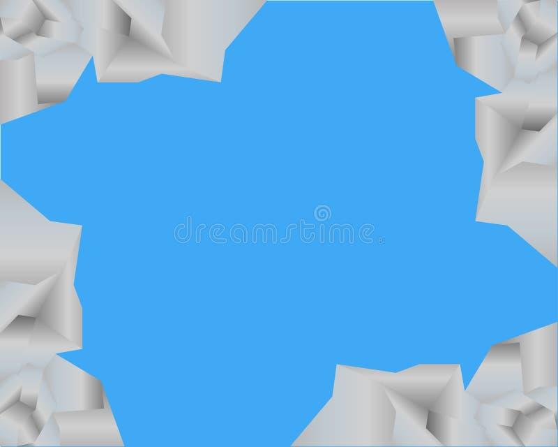 Vista do céu azul fora de uma fenda ilustração do vetor