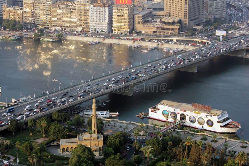 Vista do Cairo imagens de stock