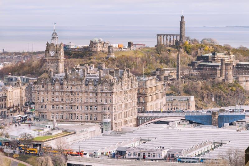 Vista do castelo de Edimburgo, Escócia fotografia de stock royalty free