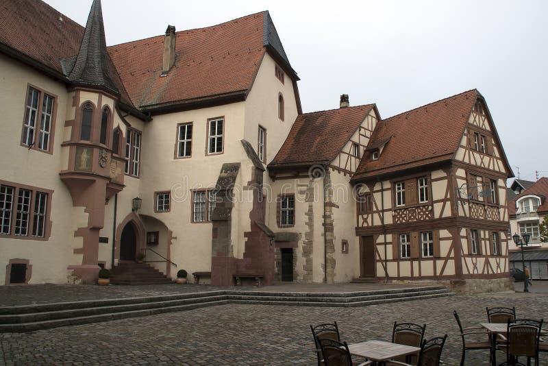 Vista do castelo de Kurmainz da rua foto de stock royalty free