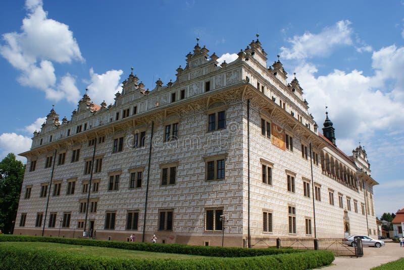 Vista do castelo de Litomysl fotos de stock royalty free