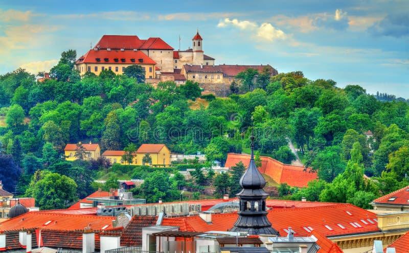 Vista do castelo de Spilberk em Brno, República Checa imagem de stock royalty free