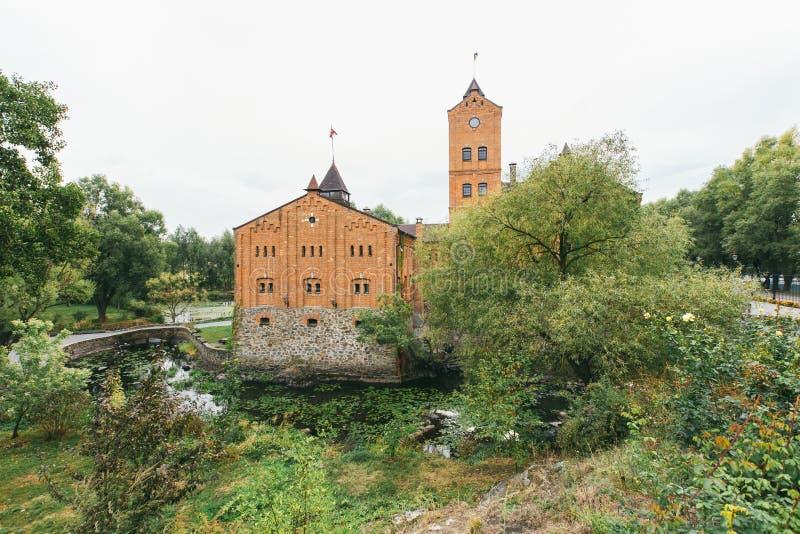 Vista do castelo em Radomyshl, Ucrânia imagem de stock