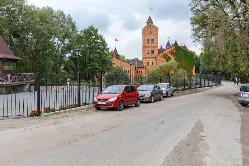 Vista do castelo em Radomyshl, Ucrânia fotos de stock royalty free