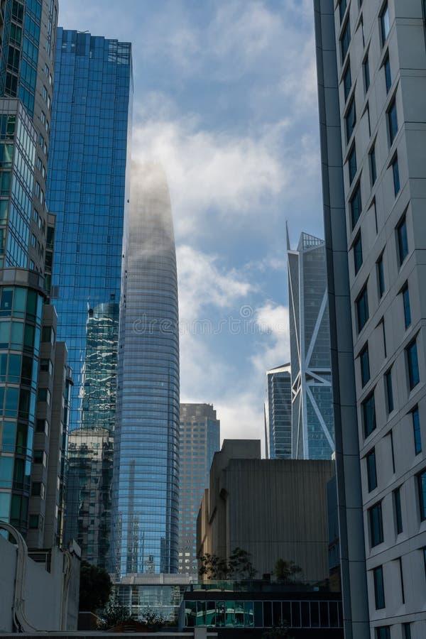 Vista do centro cênico de San Francisco fotos de stock royalty free
