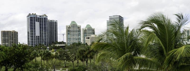 Vista do Coconut Grove em Miami fotografia de stock royalty free