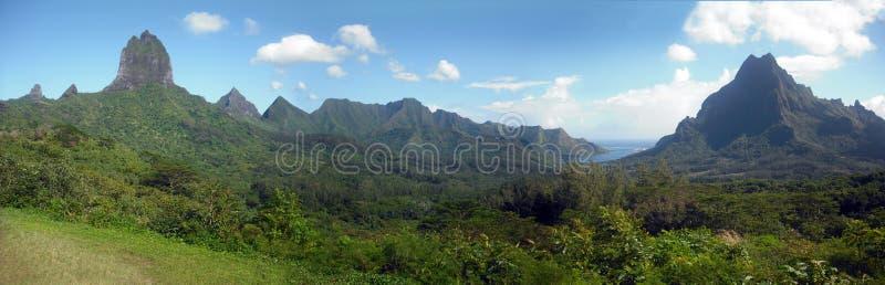Vista do console de Moorea (Polinésia francesa) foto de stock