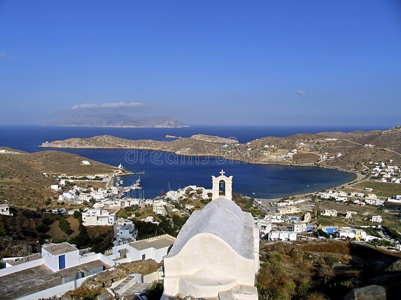 Vista do console do Ios em Cyclades, fotografia de stock