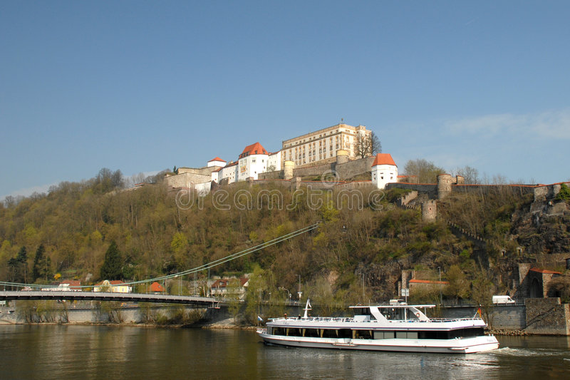 Vista do Danúbio fotos de stock royalty free