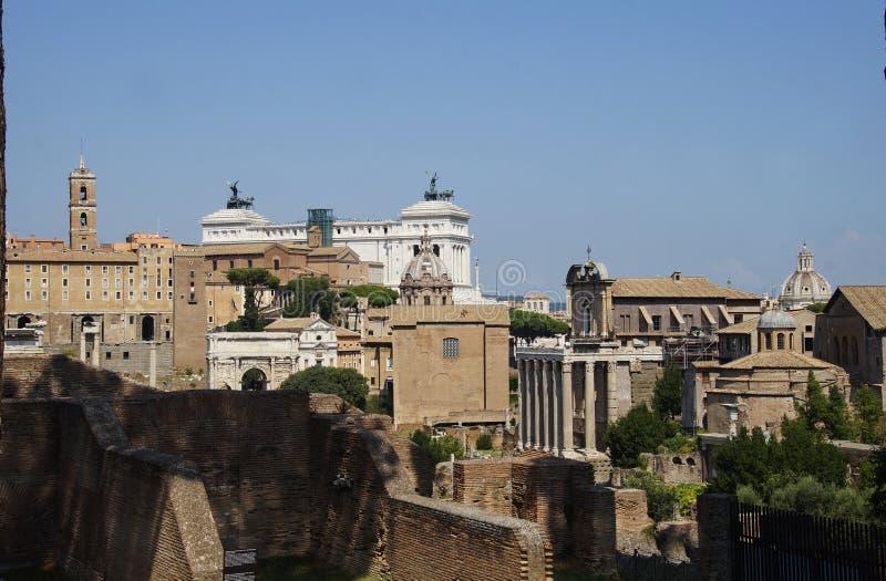 Vista do della Patria de Altare em Roma fotografia de stock