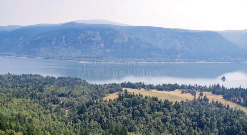Vista do desfiladeiro de Colômbia, Oregon, EUA foto de stock