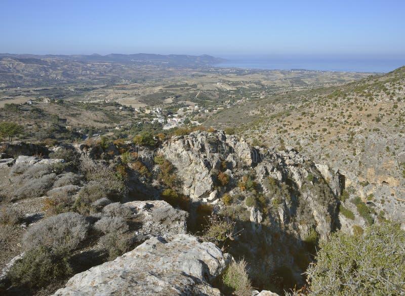 Vista do desfiladeiro de Peristerona imagens de stock royalty free