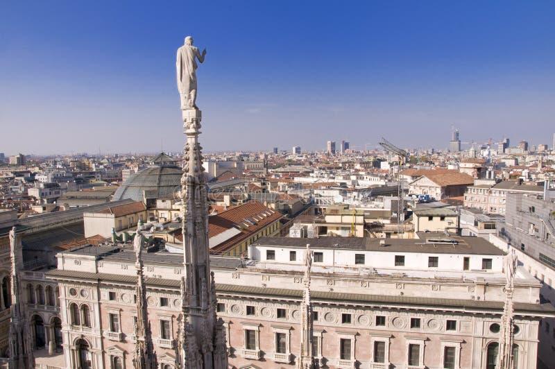Vista do domo, Milão imagens de stock royalty free