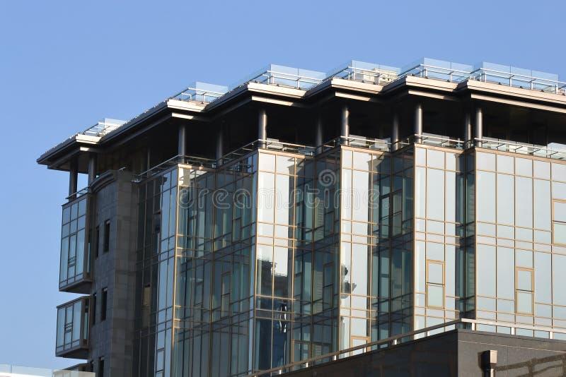 Vista do edifício moderno fotografia de stock