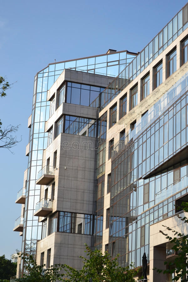 Vista do edifício moderno foto de stock royalty free