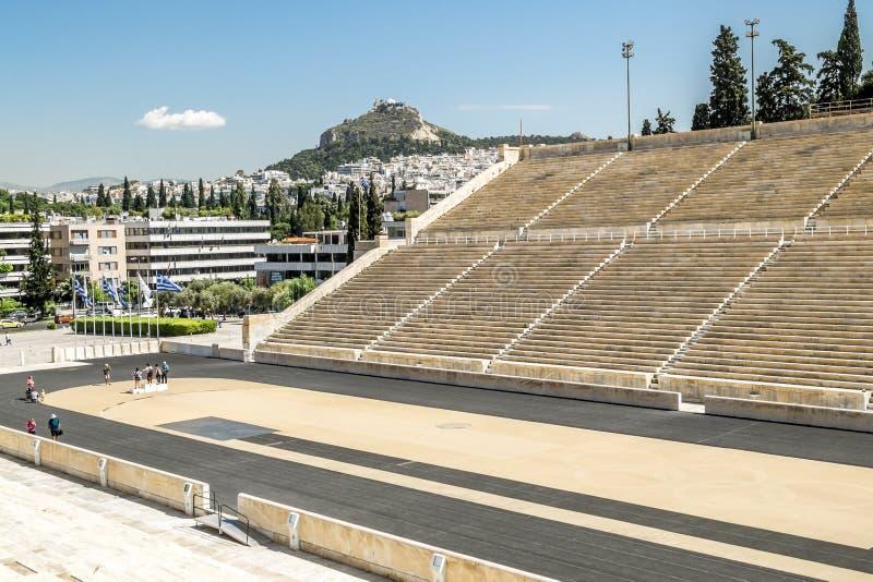 Vista do estádio do Panathenaic em Atenas foto de stock royalty free