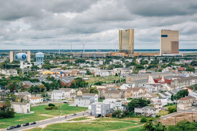 Vista do farol de Absecon em Atlantic City, New-jersey fotografia de stock
