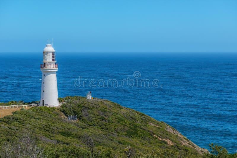 Vista do farol de Otway do cabo, grande estrada do oceano, Austrália fotografia de stock royalty free