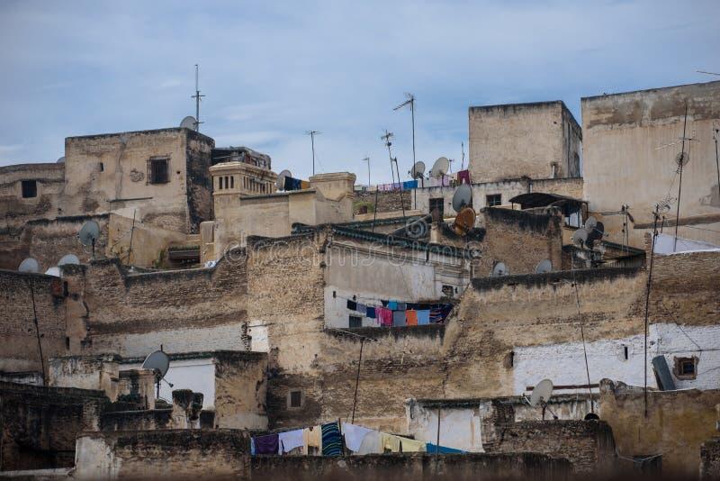 Vista do fez, Marrocos, Norte de África imagens de stock royalty free