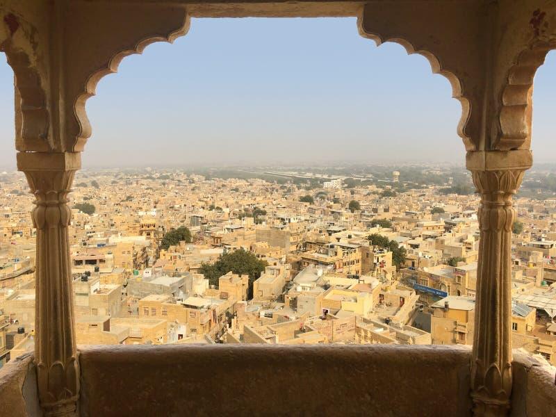 Vista do forte de Jaisalmer, Índia foto de stock royalty free
