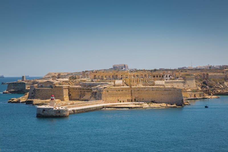 Vista do forte Ricasoli imagem de stock royalty free
