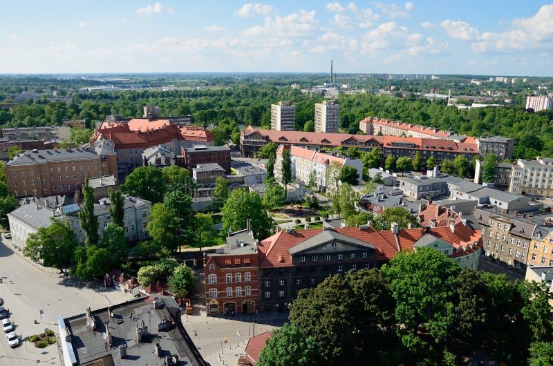 Vista do Gliwice no Polônia foto de stock