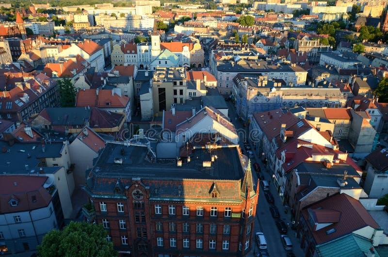 Vista do Gliwice no Polônia fotografia de stock