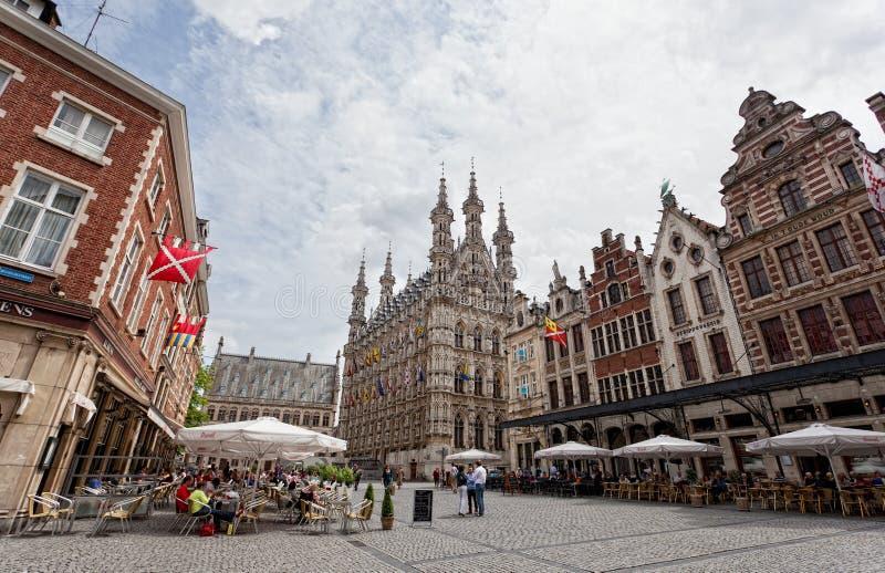 Vista do Grote quadrado Markt foto de stock royalty free