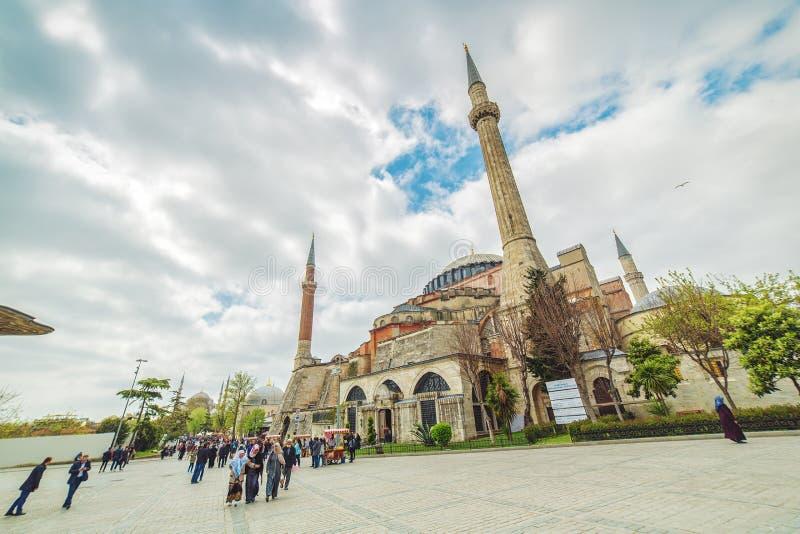 Vista do Hagia Sophia fotos de stock royalty free