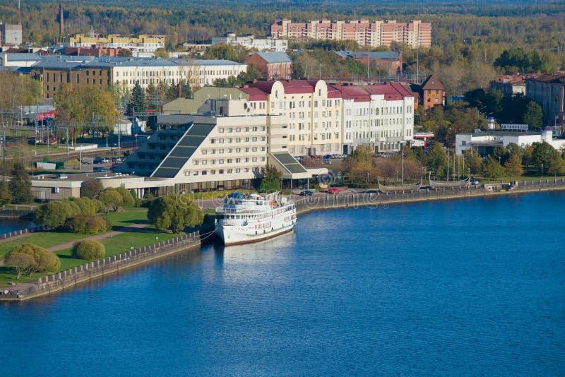 Vista do hotel da amizade 'de Druzhba ', Vyborg fotos de stock