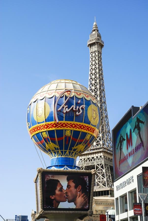 Vista do hotel e do casino de Paris Las Vegas em Las Vegas, EUA imagem de stock royalty free